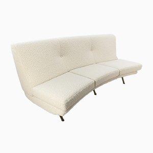 Geschwungenes Mid-Century Triennale Sofa von Marco Zanuso für Arflex, Italien, 1950er