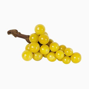 Large Mid-Century Italian Alabaster Grapes