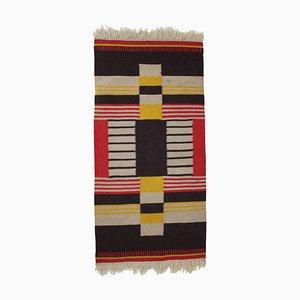 Small Geometric Wool Kilim Carpet by Antonin Kybal, 1940s