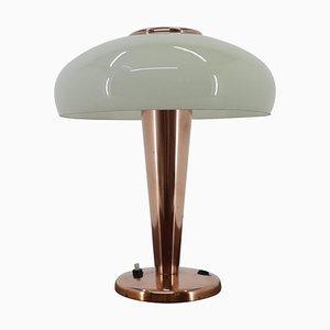 Lampada da tavolo Bauhaus in ottone e vetro, anni '30