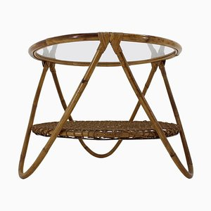Mid-Century Rattan Coffee End or Garden Table, 1960s