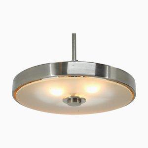 Chrome and Glass Bauhaus Pendant Lamp, 1930s