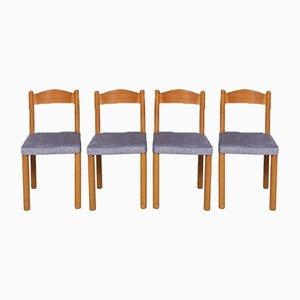 Spätes Mid-Century Esszimmerstühle, 4er Set