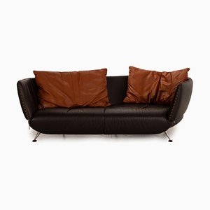DS 102 Brown Leather Sofa from de Sede