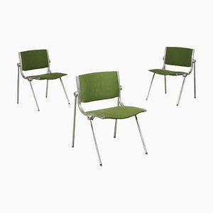 Stuhl aus Aluminium und verchromtem Metall