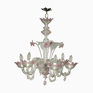 Murano Blown and Colored Glass Chandelier