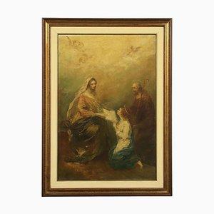 L'educazione della Vergine, Öl auf Karton