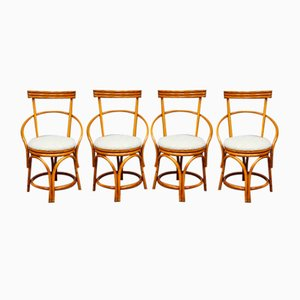 Vintage Bamboo Dining Chairs, Set of 4