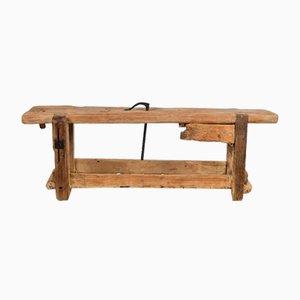 Mesa de taller de haya y roble