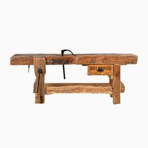 Mesa de taller de roble