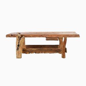 Tavolo da laboratorio in quercia