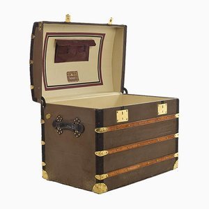Leather and Brass Trunk from Moynat