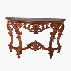 Italian Carved Console Table, 1790s