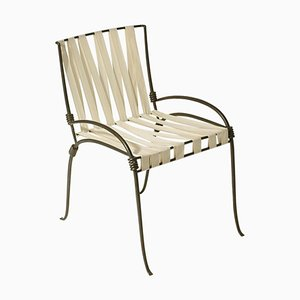 French Wrought Iron Chair by Maison Ramsay, 1940s