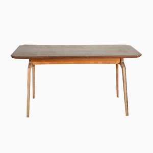 Schichtholz Holztisch, Italien, 1950er