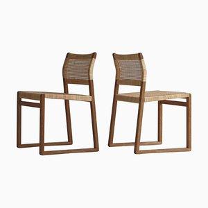 Dänische BM61 Stühle von Børge Mogensen für P. Lauritsen & Son, 1950er, 2er Set