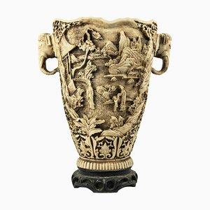 Vintage Vase with Elephants, Italy, Mid-20th Century