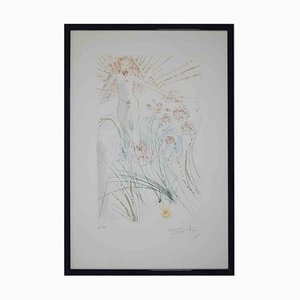 Salvador Dalí, The Beloved Feeds Between the Lilies, Original Etching, 1971