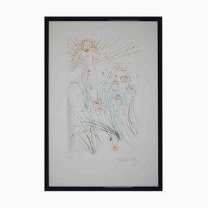 Salvador Dalí, The Beloved Feeds Between the Lilies, Original Radierung, 1971