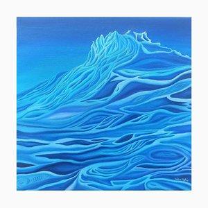 Pintura al óleo original de Sabrina Pugliese, The Melting of Glaciers, 2019