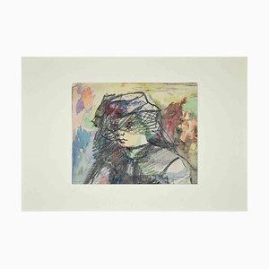 Mino Maccari, Porträt einer Frau, Mitte des 20. Jahrhunderts