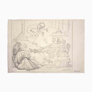 Leo Guida, Agony, Original Zeichnung, 1977