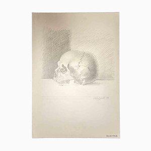 Leo Guida, Skull, Original Zeichnung, 1976