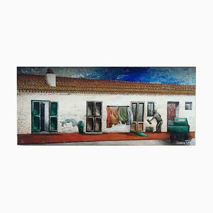 Sabrina Pugliese, Old Village, Original Oil Painting, 2016