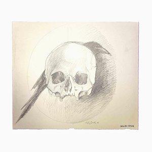 Leo Guida, Skull, Original Drawing, 1976