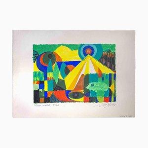 Leo Guida, Paese in Nachlass, Original Artwork, 1988