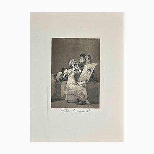 Hasta la Muerte, Original Print by Francisco Goya, Early 20 Century