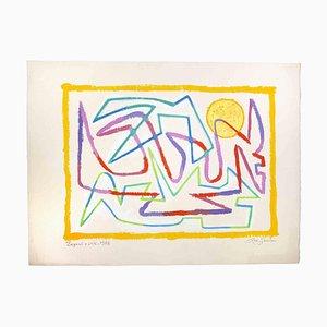 Leo Guida, Segnali e Sole, Disegno originale, 1988