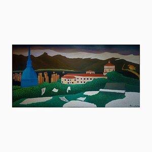 Pintura al óleo original sobre lienzo de Sabrina Pugliese, The Magic Flute, 2019