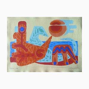 Leo Guida, Mer, Aquarelle Originale, 1988