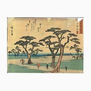 Utagawa Hiroshige-Odawara, 53 Stations Along the Tokaido, Woodcut, 1833/1834