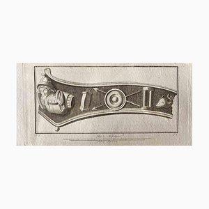 Adorno romano antiguo, Litografía original, Finales del siglo XVIII