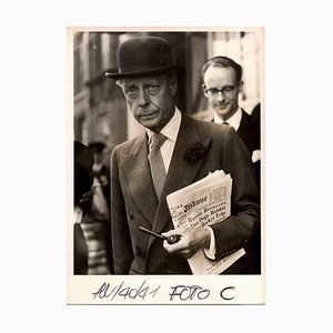 Desconocido, The Duke of Windsor in London, fotografía vintage en blanco y negro, años 40