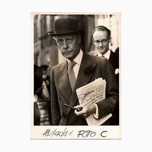 Unbekannt, The Duke of Windsor in London, Vintage S / W Photo, 1940er