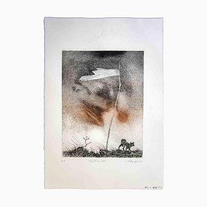 Leo Guida, Boundary, Grabado original, 1970