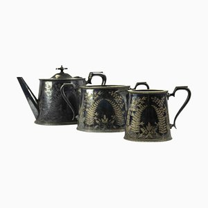 Sheffeld Tea Set, Half of the 20th Century, Set of 3