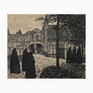 Brujas, obra de arte original, mediados del siglo XX