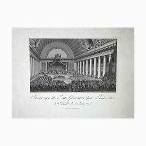 Ouverture des Etats Généraux, Acquaforte originale, fine XVIII secolo
