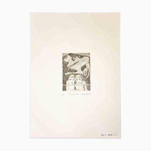 Leo Guida, Am Fenster, Originaldruck, 1989