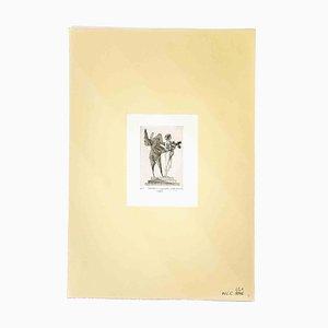 Acquaforte originale di Leo Guida, Venus and the Sapient, anni '80