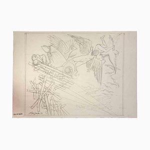 Leo Guida, Il crollo, Disegno originale, 1977
