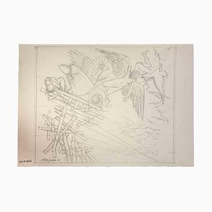 Leo Guida, The Collapse, Original Drawing, 1977
