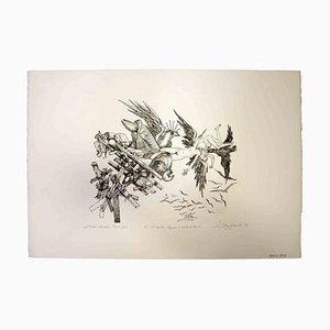 Impresión original de Leo Guida, The Collapse, 1975