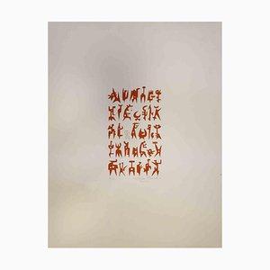 Leo Guida, Composition, Original Print, 1970s