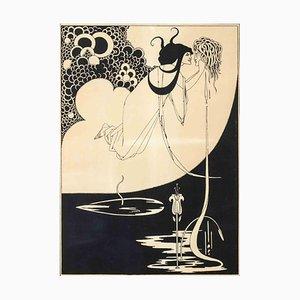 Aubrey Vincent Beardsley, The Climax, Original-Lithographie, 1893