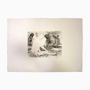 Leo Guida, lehnte Akt, Original-Druck, 1970er Jahre ab